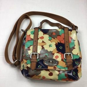 Fossil Floral Small Crossbody Messenger Bag